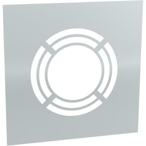 Jeremias DW ECO 2.0 Wand-/ Deckenblende, einteilig 0° mit Hinterlüftung  DN 180mm