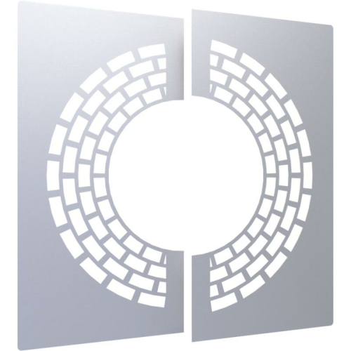 Jeremias DW ECO 2.0 Wand-/ Deckenblende, zweiteilig 0° mit Hinterlüftung  DN 180mm