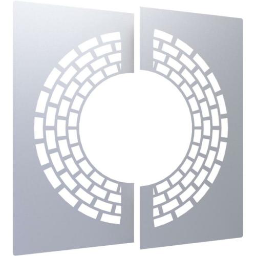Jeremias DW ECO 2.0 Wand-/ Deckenblende, zweiteilig 0° mit Hinterlüftung  DN 300mm