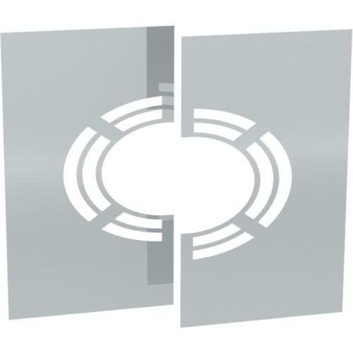 Jeremias DW ECO 2.0 Wand-/ Deckenblende, zweiteilig 1-65° mit Hinterlüftung  DN 160mm
