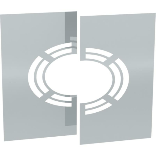 Jeremias DW ECO 2.0 Wand-/ Deckenblende, zweiteilig 1-65° mit Hinterlüftung  DN 250mm