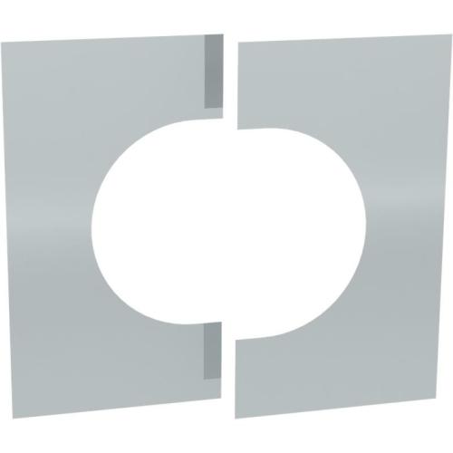 Jeremias DW ECO 2.0 Wand-/ Deckenblende, zweiteilig 0°-30°  DN 130mm