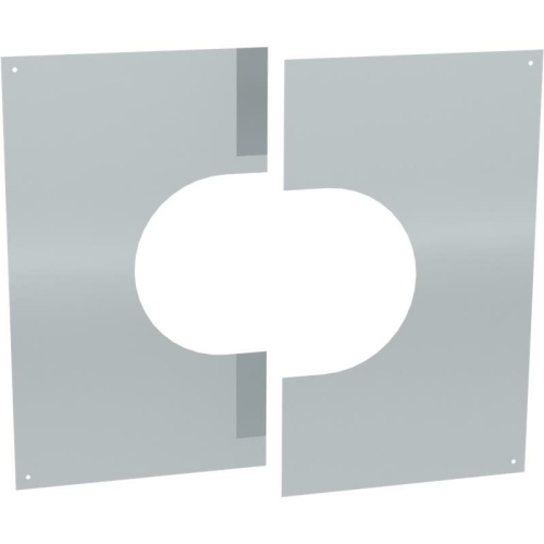 Jeremias DW ECO 2.0 Wand-/ Deckenblende, zweiteilig 31°-45°  DN 130mm
