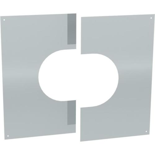 Jeremias DW ECO 2.0 Wand-/ Deckenblende, zweiteilig 31°-45°  DN 150mm