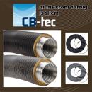 Aluflexrohr isoliert 5-lagig D=50mm - 150mm grau/schwarz/braun beschichtet
