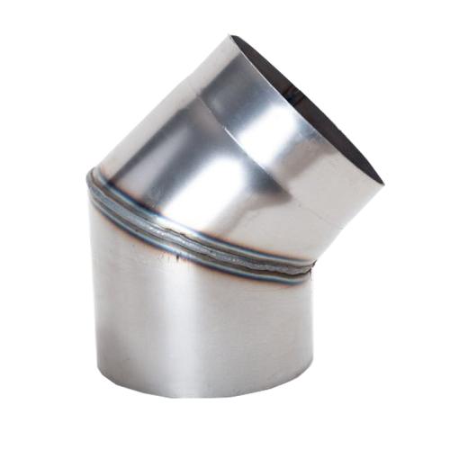 Ofenrohr Rauchrohr Bogen 45° DN 160mm unlackiert 2mm