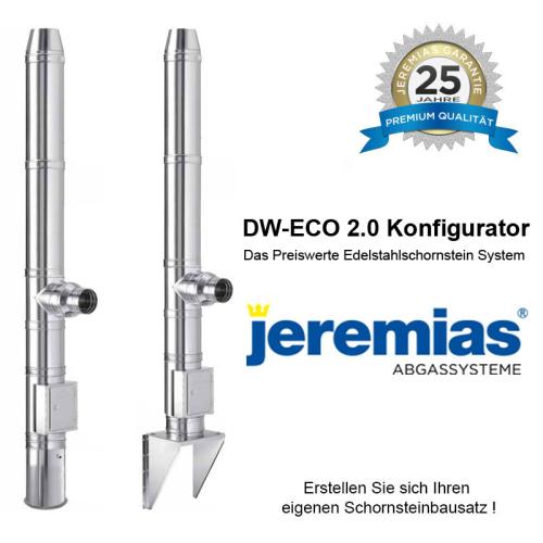 Jeremias DW-ECO 2.0 Edelstahlschornstein Konfigurator 130mm - 200mm