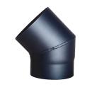 Bogen 45°ohne Tür DN 130mm schwarz #310