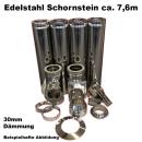 Schornstein-Set Edelstahl DN 130 mm doppelwandig...