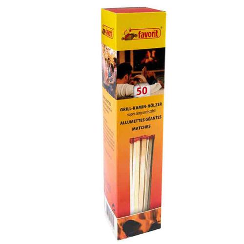 Kamin und Grill Streichhölzer 20 cm extra lang 50 Stück #1241