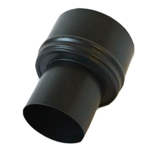 Pellet- Ofenrohr-Erweiterung  80-120mm matt-schwarz emailliert