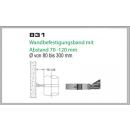 Wandhalterung 70-120mm für Schornsteinsets 180mm DW