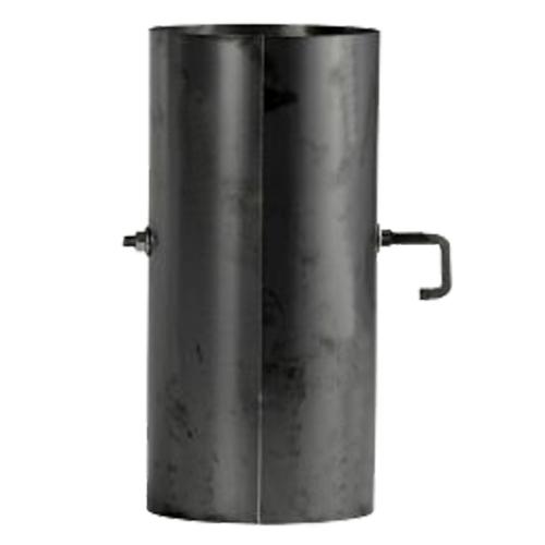 Ofenrohr mit Sperrer 0,25m gebläut DN 150mm