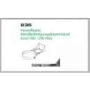 Wandhalterung 100-250mm für Schornsteinsets 130mm DW