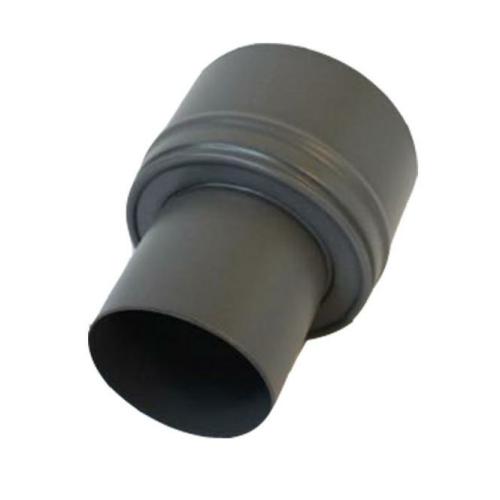 Pellet- Ofenrohr-Erweiterung 80-130mm gussgrau emailliert
