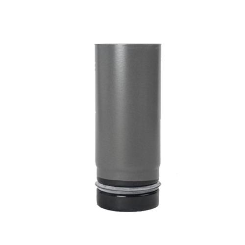 Pellet- Ofenrohr 0,15m DN 80mm gussgrau emailliert