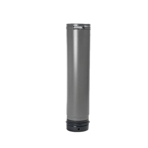 Pellet- Ofenrohr Fix-Rohr 0,5m DN 100mm gussgrau emailliert