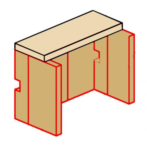 Ausmauerung Vermiculite passend für Kaminofen Zirkon Prisma von Eurotherm