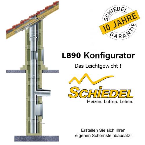 Schiedel LB90 Leichtbauschornstein Konfigurator Festbrennstoffe
