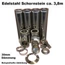 Schornstein-Set Edelstahl DN 130mm doppelwandig...