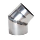 Ofenrohr Rauchrohr Bogen 45° DN 150mm unlackiert 2mm