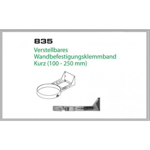 Wandhalterung 100-250mm für Schornsteinsets 150mm DW6