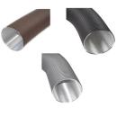 Aluflexrohr 2-lagig D=50mm - 150mm grau/schwarz/braun...