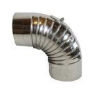 Ofenrohr Edelstahl - Bogen 90°mit Tür DN 110mm