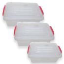 Aufbewahrungsdose viereckig 1,5 - 25 Liter mit Henkel