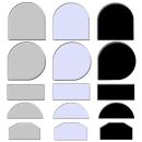 Glasplatte Farbig verschiedene Formen Funkenschutz