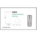 Längenelement 940mm für Schornsteinsets 130mm DW6
