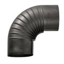 Ofenrohr Bogen 90° ohne Tür gebläut DN 120mm
